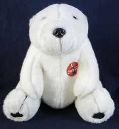 """1993 COCA-COLA 12"""" Plush Polar Bear #CocaCola"""