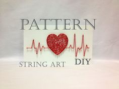DIY String Art Pattern Rhythm Heart Beat, Pattern and Instructions, Included Download 3 x 7 How to make string art? String art instructions and template pattern here! The dimensions of the pattern string art includes: - 3 x 7 inch (7 x 18 cm) Now you can easily make your hands panels string art. This pattern was made by hand in our Shop One Roots. We create the image and then translate them into a digital form, as efficiently and clearly edited and processed them to make your work as simp...