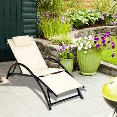 | Sun Lounger | Textilene Sun Lounger | Sun Bed | £64.99