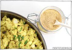 Tofu Scramble Spice Mix - Tastes Like Eggs! Homemade Tofu, Homemade Spices, Homemade Tacos, Warm Salad Recipes, Vegan Recipes, Vegan Substitutes, Spice Mixes, 7 Spice