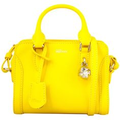 Alexander McQueen Totes ($470) ❤ liked on Polyvore featuring bags, handbags, tote bags, bolsa, giallo, handbags & purses, hand bags, yellow leather tote, genuine leather tote and leather tote handbags