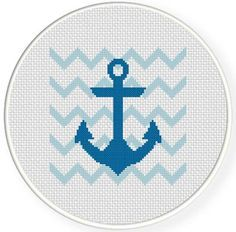 FREE for April 7th 2014 ONLY - Blue Anchor Cross Stitch Pattern