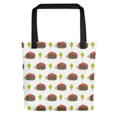 Bring your favorite design everywhere you go. Everywhere You Go, Hedgehogs, Your Favorite, Print Patterns, Reusable Tote Bags, Bring It On, Fabric, How To Make, Cotton