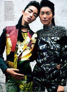 Vision Quest: Joan Smalls, Liu Wen, Kasia Struss, Karolina Kurkova, Fei Fei Sun And Cara Delevinge By Peter Lindbergh For Vogue US March 2012