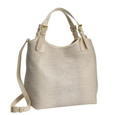 GiGi New York | Beige Olivia Shopper | Embossed Ring Lizard Leather