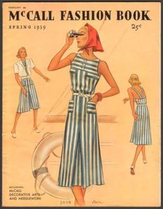 McCall Fashion Book, Spring 1939 featuring McCall 3078