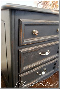 Love this color for giving new life to an old dresser