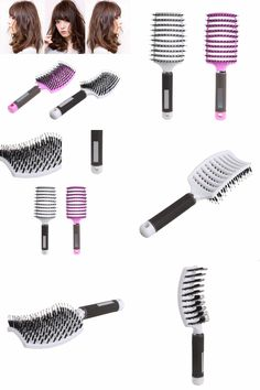 [Visit to Buy] Hairbrush Bristle Nylon Comb Hair Scalp Massage Salon Hairdressing Styling Tools #Advertisement