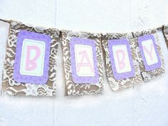 Rustic Shabby BABY Burlap Lace Banner Vintage by MyBurlapBanner, $28.00