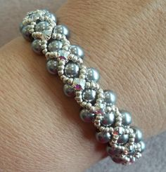PDF Montee Embellished Pearl Bracelet INSTANT by offthebeadedpath, $4.00