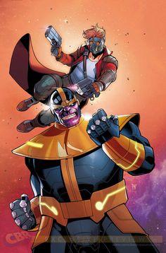 Legendary Star-Lord #4 - Thanos by Paco Medina *