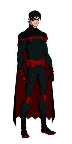 Well... This is lovely... So I went with designs from each YJ Robin for Damian's Robin suit... As for his Nightwing, it was all based around Dick's YJ suit and both Nightwing Injustice suits.. Batm...
