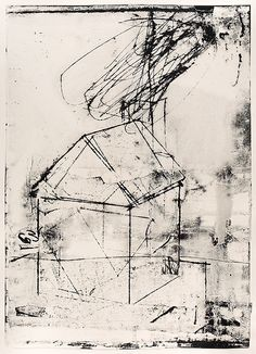 Big House 63 by Roxanne Faber Savage - Paper Lithograph Monoprint