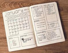 Bildergebnis für bullet journal calendar