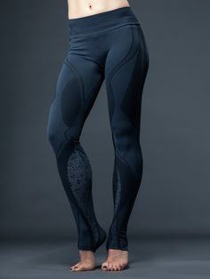 """You don't need to be from a galaxy far far away to love these futuristic leggings! With sleek and slimming seams that scream """"stylish"""" and a unique construction that keeps everything in place while you work out, you'll be loving these leggings!"""