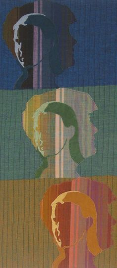 Mirror, Mirror (detail) by Martha Wolfe | portrait art quilt