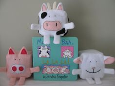 """Felt Pattern - Barnyard animals - """"Moo, Baa, LaLaLa"""" inspired - Felt…"""