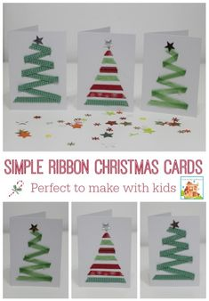 15 DIY Christmas Cards Kids Can Make; a collection of 15 amazing yet simple Christmas Card Craft ideas for kids from toddler to teen! Christmas Cards Handmade Kids, Diy Holiday Cards, Simple Christmas Cards, Christmas Card Crafts, Homemade Christmas Cards, Christmas Art, Holiday Crafts, Easy Diy Xmas Cards, Handmade Cards