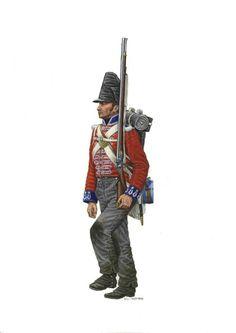 Fuciliere del 4 reggimento inglese di fanteria a piedi