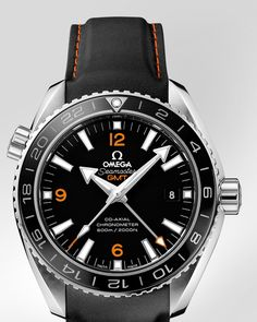 Omega Seamaster Planet Ocean GMT with rubber strap