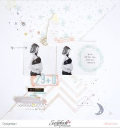 Layout *29+0* - Scrapbook Werkstatt Juni Sketch 2016 - Crate Paper *Little You* - von Ulrike Dold