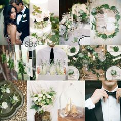 Inspiration Board: Black Tie Botanical