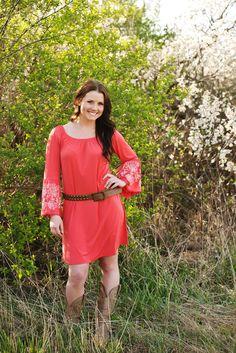 Coral Tunic Dress – Laney Lu's Boutique