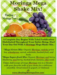 Organic Moringa Mega shake Mix, Moringa powder blend, Moringa smoothies, fruit superfood - LA MORINGA, MORINGA TREES FOR SALE, ORGANIC MORINGA SEEDS, BUY MORINGA,MALUNGGAY MORINGA, Local Moringa, Garden SUPPLIES,MORINGA BEAUTY PRODUCTS, MORINGA LEAF POWDER, MORINGA OIL, MORINGA HEALTH BENEFITS, MORINGA FOR CHILDREN, MORINGA FOR PETS