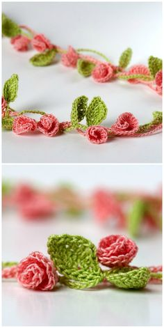 Crochet Flower Chain Stitch Pattern Video Tutorial A beautiful crochet flower chain using simple stitches for a beautiful result! We've got the easy video tutorial, along with more inspirational ideas! Crochet Vintage, Crochet Daisy, Crochet Chain, Crochet Leaves, Crochet Motifs, Crochet Patterns, Crochet Necklace Pattern, Crochet Butterfly, Crochet Flower Tutorial