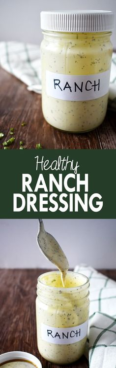 Add this dairy-free healthy ranch dressing to salads, chicken, potatoes, and more | The Small Town Foodie