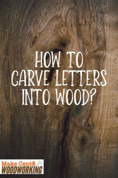 Make your woodwork personalized by learning how to effectively carve letters into wood with this simple guide. Wood Projects That Sell, Woodworking Projects That Sell, Diy Wood Projects, Woodworking Crafts, Wood Crafts, Woodworking Plans, Wood Etching, Writing Styles, Wood Plans