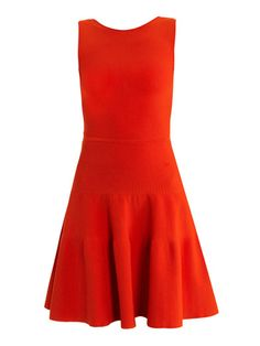 Low V-back dress. It'd be cute with a tiny belt! #sophisticated