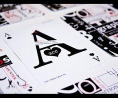 Typographic card
