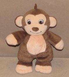 "8"" Garanimals Brown Cream Monkey Plush Stuffed Animal Walmart Baby Toy Doll Soft #Garanimals"