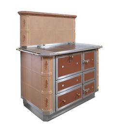 Küchenherd mit Kachelverkleidung Storage Chest, Cabinet, Furniture, Home Decor, Dressmaking, Tiling, Panelling, Clothes Stand, Decoration Home