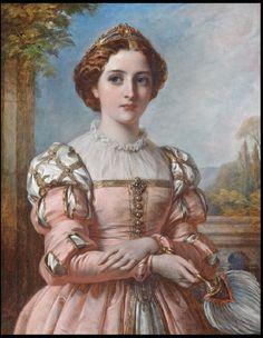 DICKSEE, Thomas Francis British (1819-1895)_Beatrice (1883)