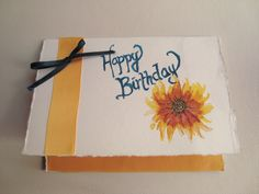 a watercolour birthday greeting for a great friend of mine
