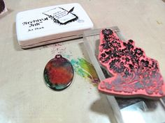 """ink """"resist"""" with alcohol inks & stamps"""