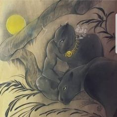 Black Panther Art, Artist, Painting, Artists, Painting Art, Paintings, Painted Canvas, Drawings
