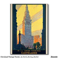 Cleveland Vintage Travel Tourism Postcard