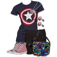 haha cute Captain America outfit for a girl :)