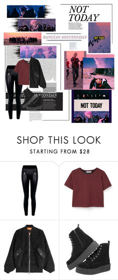 """BTS Not Today"" by jina-7 ❤ liked on Polyvore featuring Nicki Minaj, Boohoo, MANGO and Alexander Wang"