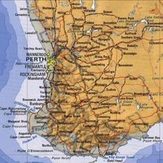 Map Of Western Australia Aussie Land Pinterest Western - Map of western australia with towns