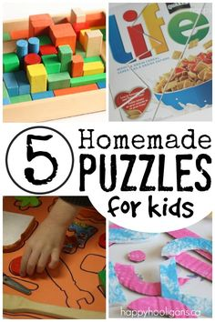 5 Homemade Puzzles You Can Make for Your Preschooler - Happy Hooligans