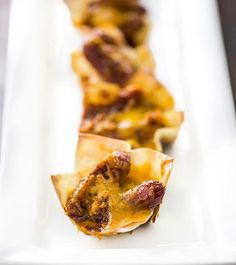 Cheesy Little Smokie Cups | This cocktail sausage recipe is perfect for a party or a potluck!