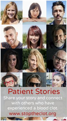 Share you story with the National Blood Clot Alliance and connect with others who have experienced a blood clot.