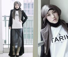 Beautiful Look with Casual Hijab Style