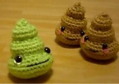 Yes they are crocheted PooP & so darn Cute!