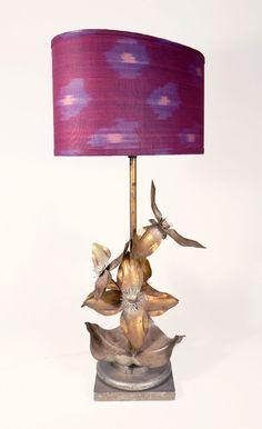 Purple Ikat Lampshade