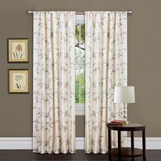 Lush Decor Beige 84-inch Garden Suite Curtain Panel